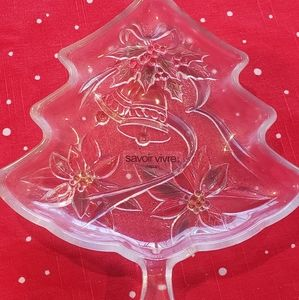 Colored glass candy dish